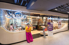 Restaurante de Sukishi en Siam Center, Bangkok Fotografía de archivo libre de regalías