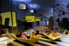 Restaurante de sushi imagens de stock