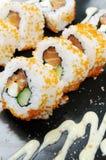 Restaurante de sushi delicioso dos japanses fotografia de stock