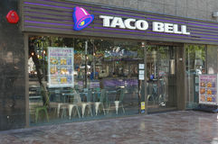 Restaurante de Taco Bell Fotografía de archivo