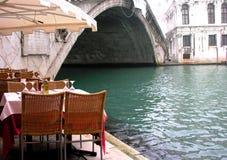Restaurante de Venecia Foto de archivo libre de regalías