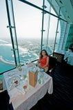 Restaurante del árabe del Al de Dubai Burj imágenes de archivo libres de regalías