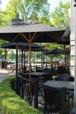 Restaurante del aire abierto Imagen de archivo libre de regalías