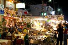 Restaurante del alimento de mar en Tailandia foto de archivo