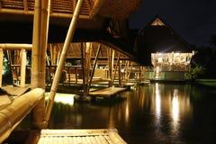 Restaurante del Balinese cerca de los ricefields Foto de archivo