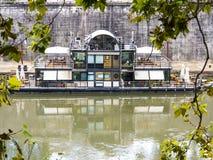 Restaurante del barco Imagen de archivo libre de regalías