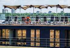 Restaurante del barco Imágenes de archivo libres de regalías