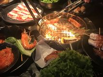 Restaurante del Bbq Tailandia Bangkok de la parrilla imagen de archivo libre de regalías