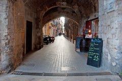 Restaurante del callejón de Palma Fotos de archivo