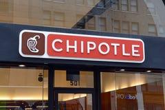 Restaurante del Chipotle en Manhattan Fotografía de archivo