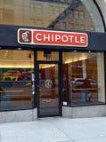 Restaurante del Chipotle en Manhattan Imagen de archivo libre de regalías