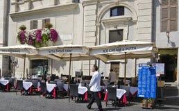 Restaurante del cuadrado de Navona Imagenes de archivo