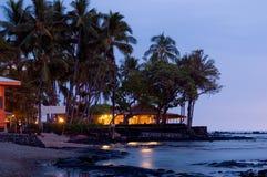 Restaurante del frente de océano Fotos de archivo