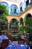 Restaurante del patio Imágenes de archivo libres de regalías