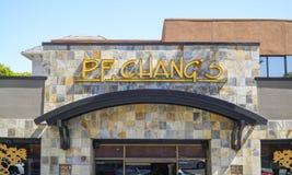 Restaurante del PF Changs en Los Ángeles - LOS ÁNGELES - CALIFORNIA - 20 de abril de 2017 Imágenes de archivo libres de regalías