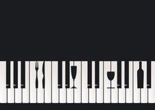 Restaurante del piano Imágenes de archivo libres de regalías