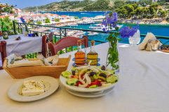 Restaurante del puerto Fotografía de archivo libre de regalías