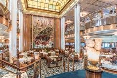 Restaurante del RMS Queen Mary 2 Britannia fotos de archivo libres de regalías