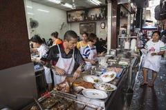 Restaurante del stret de Bangkok Imagen de archivo libre de regalías