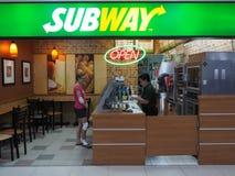 Restaurante del SUBTERRÁNEO en Don Mueang International Airport imagen de archivo libre de regalías