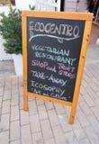 Restaurante del vegetariano de Ecocentro imagenes de archivo