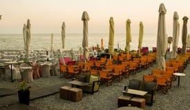Restaurante desapasible en el mar Foto de archivo libre de regalías