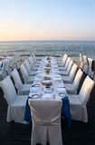 Restaurante do ar aberto Foto de Stock Royalty Free