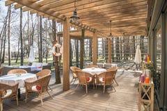 Restaurante do ar aberto Imagem de Stock Royalty Free