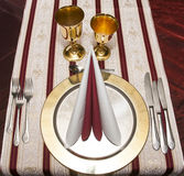 Restaurante do arranjo da tabela Imagens de Stock Royalty Free