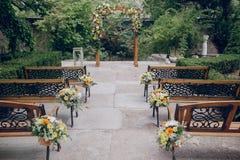 Restaurante do banquete do casamento fotos de stock royalty free