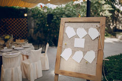 Restaurante do banquete do casamento fotografia de stock