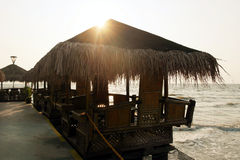 Restaurante do beira-mar Fotos de Stock Royalty Free