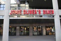 Restaurante do cozinheiro principal Jamie Oliver no Weena em Rotterdam os Países Baixos imagem de stock royalty free