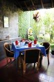 Restaurante do estilo de Bali fotos de stock royalty free