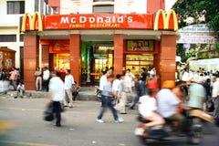 Restaurante do fast food imagem de stock