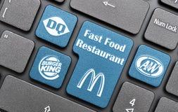 Restaurante do fast food Fotos de Stock