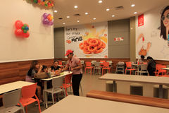 Restaurante do fast food Imagem de Stock