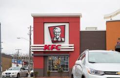 Restaurante do fast food de KFC fotografia de stock