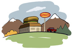 Restaurante do hamburguer Fotografia de Stock