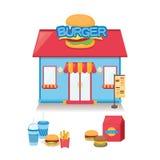 Restaurante do hamburguer Fotos de Stock Royalty Free