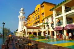 Restaurante do hotel na praia em langkawi Imagem de Stock Royalty Free