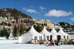 Restaurante do inverno Fotografia de Stock Royalty Free