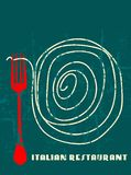 Restaurante do italiano do projeto do menu Imagens de Stock