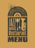 Restaurante do jazz Imagem de Stock Royalty Free