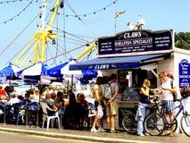 Restaurante do marisco, Brixham, Devon. Imagem de Stock