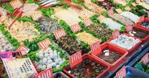 Restaurante do marisco na ilha de Cijin, na cidade de Kaohsiung Imagens de Stock