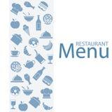 Restaurante do menu do cartão ilustração stock