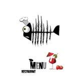 Restaurante do menu no branco Imagens de Stock