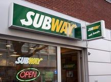 Restaurante do metro imagens de stock