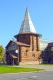 Restaurante do russo Tipo de madeira da barraca da construção Imagens de Stock Royalty Free